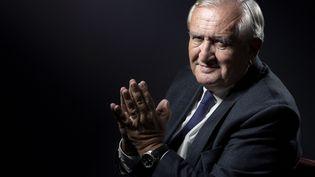 L'ancien Premier ministre et sénateur, Jean-Pierre Raffarin, à Paris, le 31 janvier 2017. (JOEL SAGET / AFP)