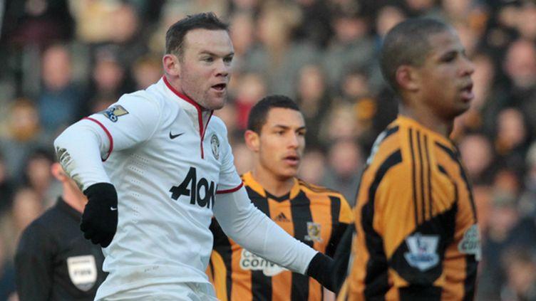 Wayne Rooney vient d'inscrire son 150e but avec Manchester United (LINDSEY PARNABY / AFP)