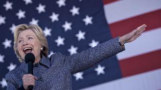 La candidate démocrate Hillary Clinton, le 29 septembre 2016 à Des Moines (Iowa). (BRENDAN SMIALOWSKI / AFP)