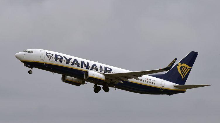 Un Boeing 737de la compagnie Ryanair décolle de l'aéroport Toulouse-Blagnac, le 19 octobre 2017. (PASCAL PAVANI / AFP)