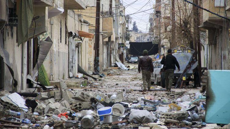 Kobani, ville détruite filmée le 5 février 2015 (MARCO SECCHI / REX/ SIPA )
