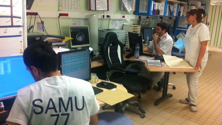 Bureau des urgences de l'hôpital de Fontainebleau, en Seine-et-Marne. (CÉLIA QUILLERET / RADIO FRANCE)