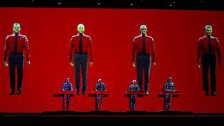 Kraftwerk en concert 3D àEindhoven (Pays-Bas), le 17 octobre 2013  (PAUL BERGEN / ANP / AFP)