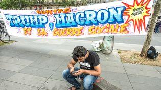 """Manifestation du """"Front social"""", mercredi 12 juillet à Paris. (SADAK SOUICI / LE PICTORIUM / MAXPPP)"""