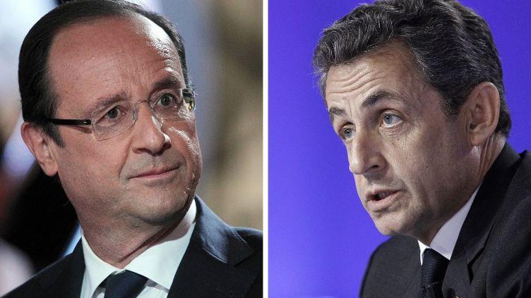 François Hollande et Nicolas Sarkozy. (KENZO TRIBOUILLARD / AFP)