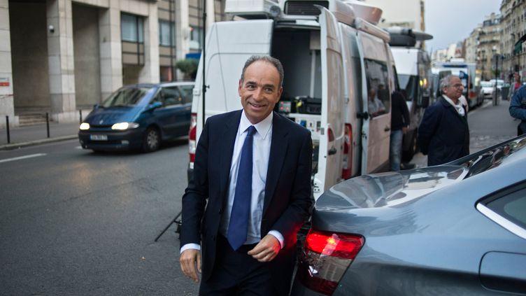 Jean-François Copé au QG de l'UMP, le 25 mai 2014. (FRED DUFOUR / AFP)