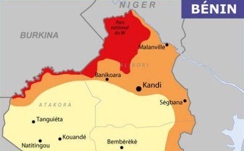 Carte de vigilance du Bénin sur le site du ministère français des Affaires étrangères, fin avril 2019. (MINISTERE DES AFFAIRES ETRANGERES / FRANCEINFO)