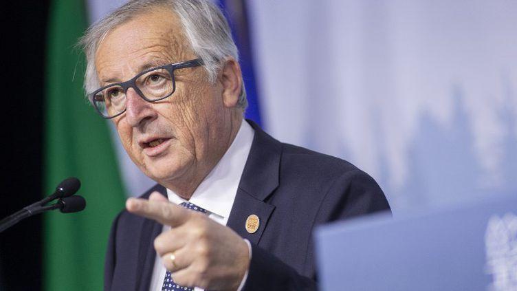 Jean-Claude Juncker, le président de la Commission européenne. (GEOFF ROBINS / AFP)