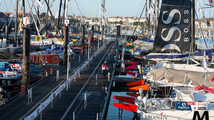 Le port des Sables-d'Olonne avant le départ du Vendée Globe. (DAVID ADEMAS / MAXPPP)