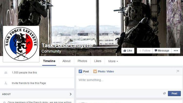 Capture d'écran de la page Facebook du groupe Task Force Lafayette. (FACEBOOK)