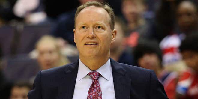 L'entraîneur d'Atlanta, Mike Budenholzer