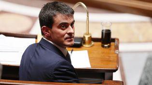 Le Premier ministre Manuel Valls, à l'Assemblée nationale, le 8 avril 2014. (PATRICK KOVARIK / AFP)
