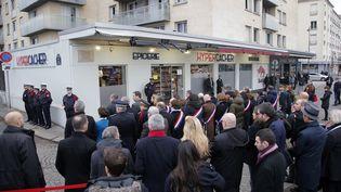 Une cérémonie en hommage aux victimes de l'attentat à l'Hyper Cacher a lieu à Paris, le 7 janvier 2019. (MAXPPP)