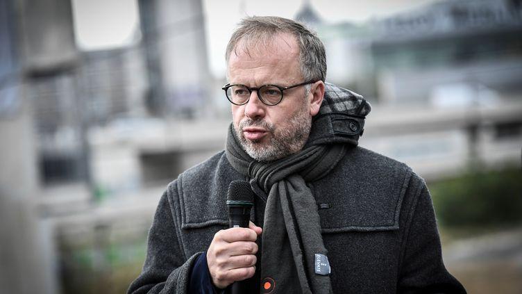 Christophe Deloire, secrétaire général de Reporters sans frontières, le 15 octobre 2020 à Paris. (STEPHANE DE SAKUTIN / AFP)