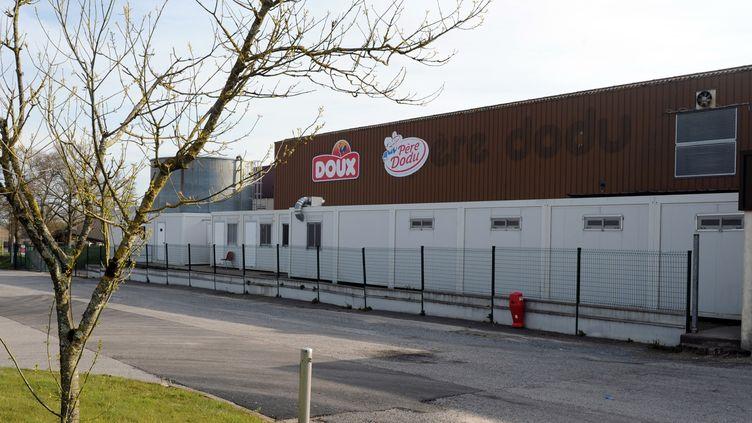 Une usine du groupe Doux, àPleucadeuc (Morbihan), le 17 avril 2013. (FRED TANNEAU / AFP)