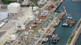 Vue aérienne de la centrale nucléaire de Fukushima (Japon), le 9 juillet 2013. (KYODO NEWS / AP / SIPA)