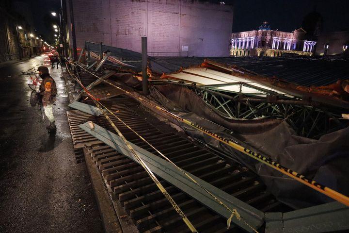 Des experts vont se charger de restaurer le toit du Templo Mayor. (EYEPIX / NURPHOTO)