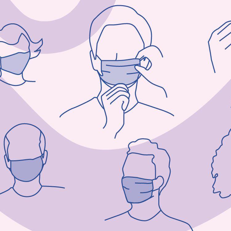 Il est notamment recommandé de bien se laver les mains avant toute manipulation du masque. ((AWA SANE / FRANCEINFO))