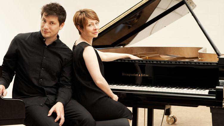 Les pianistes Arthur Ancelle et Ludmila Berlinskaïa.  (Charlotte Defarges)