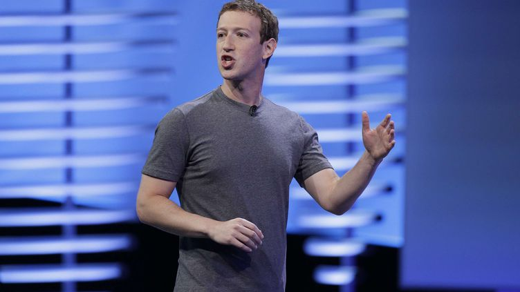 Le patron de Facebook, Mark Zuckerberg, le 12 avril 2016 à San Franscisco (Etats-Unis). (ERIC RISBERG / AP / SIPA)