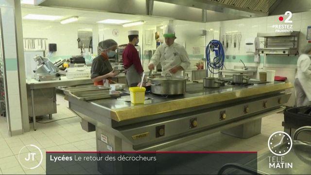 Déconfinement : retour en cuisine pour les élèves d'un lycée hôtelier pour décrocheurs