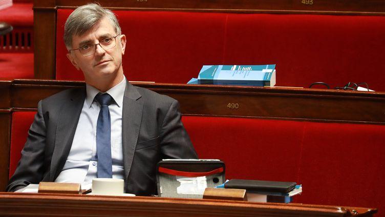 Jacques Maire, le 24 février 2020, à l'Assemblée nationale. (LUDOVIC MARIN / AFP)