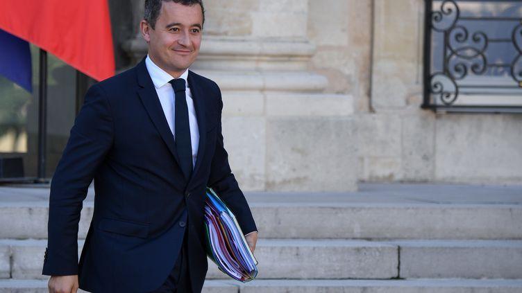 Le ministre de l'Action et des Comptes publics Gérard Darmanin, à l'Elysée, à Paris, le 10 octobre 2018. (ERIC FEFERBERG / AFP)