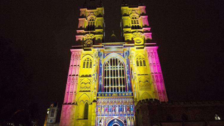 L'Abbaye de Westminster, mise en lumière par l'artiste français Patrice Warrener  (Justin Tallis / AFP)