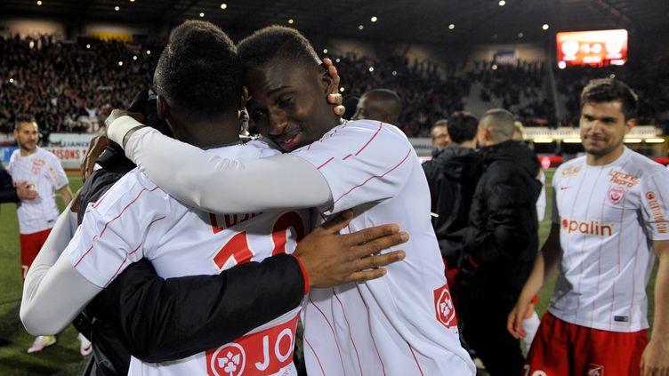 Nancy, champion de France de Ligue 2 la saison dernière (JEAN-CHRISTOPHE VERHAEGEN / AFP)