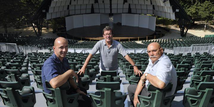 Michel Onoratini, vice-président du Festival International de Piano, René Martin, directeur artistique et Jean-Pierre Onoratini, président du festival, en 2010  (ANNE-CHRISTINE POUJOULAT / AFP)