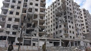 A Alep (Syrie), le 23 décembre 2016. (GEORGE OURFALIAN / AFP)
