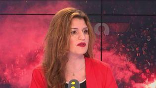 Marlène Schiappa, secrétaire d'État chargée de l'Egalité entre les femmes et les hommes invitée de franceinfo mardi 26 mars 2019. (FRANCEINFO / RADIOFRANCE)