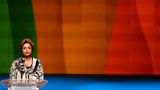 Dilma Roussef, le 5 août 2015 à Riode Janeiro (Brésil). (WILTON JUNIOR / ESTADAO CONTEUDO / AFP)