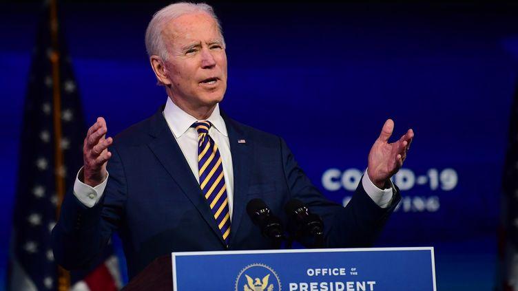 Le président élu des Etats-Unis, Joe Biden, à Wilmington (Delaware) le 29 décembre 2020 (MARK MAKELA / GETTY IMAGES NORTH AMERICA)
