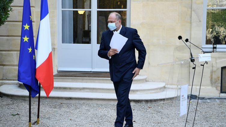 Le ministre de la Justice Eric Dupond-Moretti après une conférence de presse, le 21 septembre 2020 à Paris. (BERTRAND GUAY / AFP)