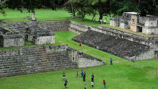 Le site architectural Maya de Copan (Honduras). (ORLANDO SIERRA / AFP)