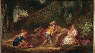 """Element du tableau """"le Jeu de la palette"""" de Fragonard (AGLILEO COLLECTION / AGLILEO)"""