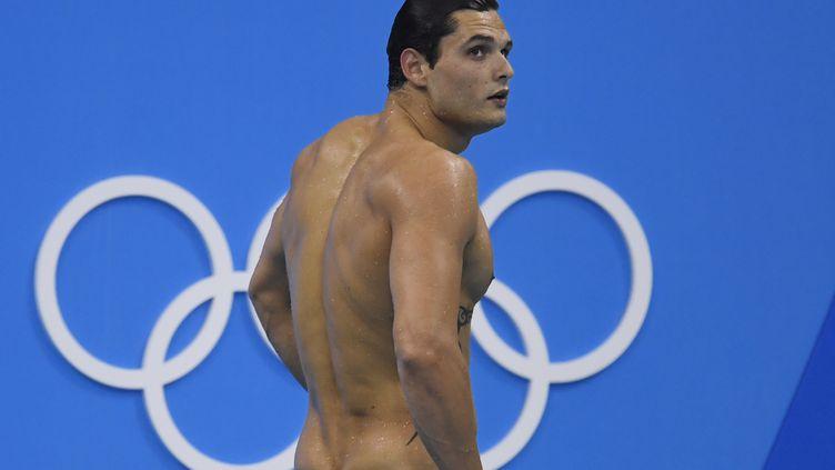Le nageur français Florent Manaudou lors de la finale du 50 m nage libre aux Jeux olympiques de Rio au Brésil, le 12 août 2016. (CHRISTOPHE SIMON / AFP)