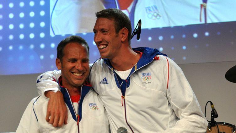 Denis Auguin et Alain Bernard au Club France, unis jusqu'à la fin de leurs 13 années en commun