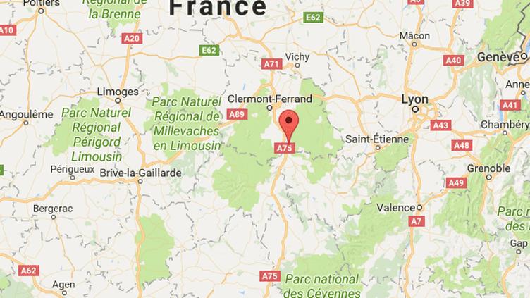 Les faits se sont déroulésà Auzat-la-Combelles, au sud de Clermont-Ferrand. (CAPTURE ECRAN GOOGLE MAPS)