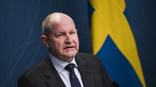 Le haut fonctionnaire suédois, Dan Eliasson, le 20 mars 2020 à Stockholm (Suède). (JONATHAN NACKSTRAND / AFP)