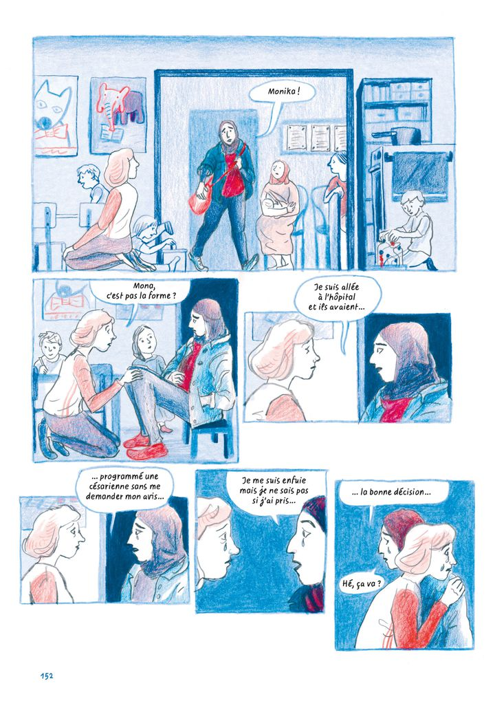 """Chez toi. Athènes 2016"", de Sandrine Martin, page 152 (Sandrine Martin / Casterman)"
