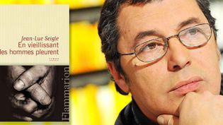 """Jean-Luc Seigle reçoit le prix RTL lire pour son roman """"En vieillissant les hommes pleurent"""", Flammarion  (Baltel / SIPA)"""