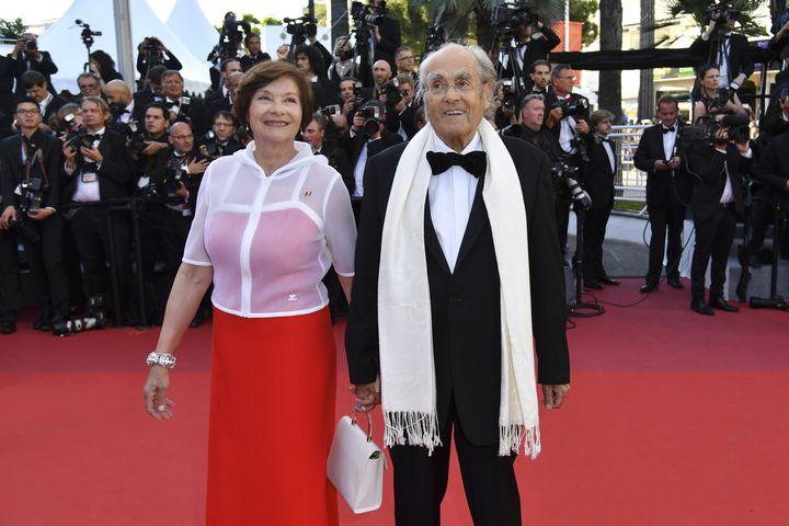 Macha Méril et Michel Legrand au Festival de Cannes 2017  (Alberto Pizzoli/AFP)