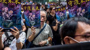 Des manifestants à Hong Kong, le 3 août 2019 (ISAAC LAWRENCE / AFP)