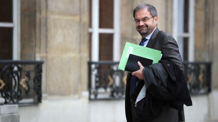 François Chérèque, le 10 mai 2010 à l'Élysée (LIONEL BONAVENTURE / AFP)