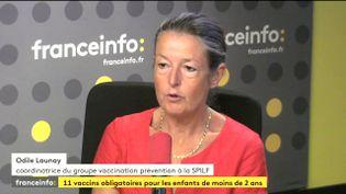 La coordinatrice du groupe Vaccination et Prévention de la société française d'infectiologie, Odile Launay, le 6 juillet 2017. (FRANCEINFO)