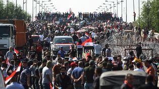 Une manifestation anti-gouvernementale, le 26 octobre 2019, à Bagdad(Irak). (AFP)