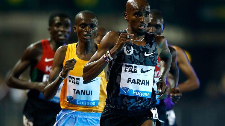 Mo Farah s'impose sur le 10 000 m à Eugene. (JONATHAN FERREY / GETTY IMAGES NORTH AMERICA)