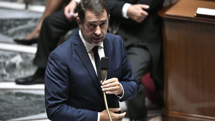 Le ministre de l'Intérieur, Christophe Castaner, le 1er octobre 2019 à l'Assemblée nationale. (STEPHANE DE SAKUTIN / AFP)